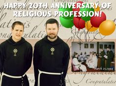 Leo and Br. Bernard celebrated their Anniversary of Religious Profession on March May God grant them many more years of heathy and holy religious life. Happy Anniversary, Current Events, Our Life, 20 Years, Catholic, Leo, Good Things, Celebrities, March