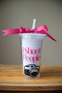 I WANT/LOVE/NEED THIS!!!  Photographer Themed I Shoot People Double Walled by TheDecalQueen, $12.00
