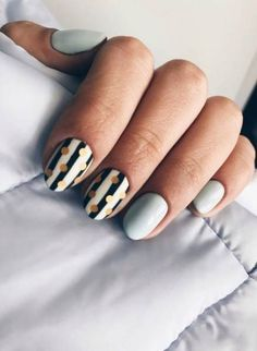 50 Trending Fall Nail Designs and Colors for 2018 - Fashiondioxide - pretty nails - Black Nails, White Nails, Infinity Nails, Nailart, Stripped Nails, Trendy Nail Art, Super Nails, Fall Nail Designs, Gorgeous Nails