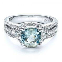 Aquamarine and diamond ring   Joseph Jewelry