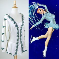 50s // Ice Capades Pin Up Dress // 1950s Skating Costume TRUE VINTAGE PIN UP FASHION