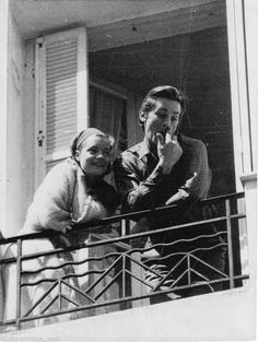 """"""" Romy & Alain à la clinique Ste Geneviève à Nice en 1962  """""""