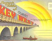 Vintage Florida Postcard - Key West - Souvenir Postcard Folder