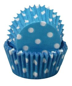 Take a look at this Blue Polka Dot Mini Cupcake Liner - Set of 60 by Regency Wraps on #zulily today!