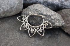Septum Piercing Jewelry 16G Silver at MyBodiArt