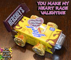 Could makefor pinewood derby! Minus the Valentine! You make my heart race Valentine | The Keeper of the Cheerios