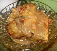 "Cajun Delights: Vanilla Bread Pudding w/ Praline-Rum Sauce + ""When the Coast is Clear"""