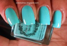 Too Fancy Lacquer Tell Me A Sea-cret (old version) swatched by colorsutraa