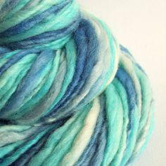 Chunky merino thick and thin knitting yarn / wool by thefibretree