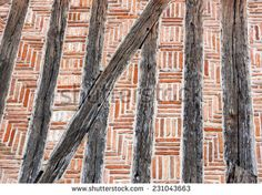 Old half-timbered wall. Abstract textured background.
