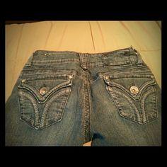 Capris Jean capris with cuffed bottom. Rewind Jeans