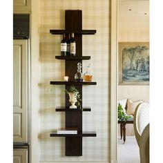 Napa Home & Garden Slender Mango Wood Five Wall Shelf