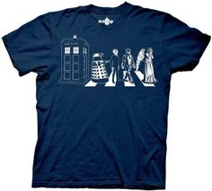 Doctor Dr. Who Detailed Street Crossing Adult T-Shirt - http://geekz.technology/doctor-dr-who-detailed-street-crossing-adult-t-shirt