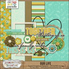 Our Life mini kit freebie from Peppermint Creative
