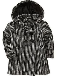 //white flower STYL pick // Tweed Hooded Peacoats for Baby   Old Navy