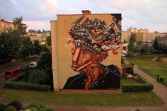by Base23 + Tobias Kröger - New mural for Bialystok Festival 2014 - Poland - Aug 2014 - Vimeo: http://vimeo.com/97949397