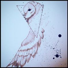 Tattoo design I'm currently working on. Geometric owl sleeve that will be going on my right arm.
