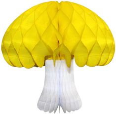 Giant 16 inch honeycomb mushroom decoration. Made in USA by Devra Party. Multiple color options. Baby Shower Fall, Fall Baby, Yellow Party Decorations, Mushroom Decor, Backdrops For Parties, Best Part Of Me, Honeycomb, Birthday Party Themes, Decorating Tips