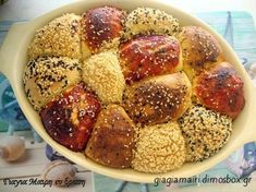 Greek Cooking, Pretzel Bites, Great Recipes, Food To Make, Recipies, Deserts, Muffin, Cereal, Food And Drink