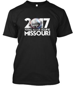 Total Solar Eclipse Missouri 2017 Shirt Black T-Shirt Front