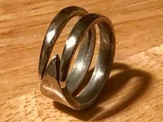 One of a king fork ring made form fork tynes.