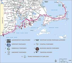 Cape Cod area wine trail