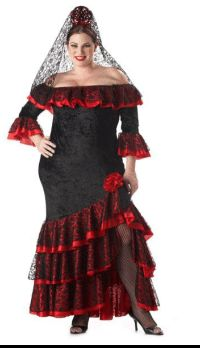 Plus Size Premier Spanish Senorita Costume