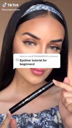 Edgy Makeup, Makeup Eye Looks, Eye Makeup Art, Cute Makeup, Skin Makeup, Makeup Tutorial Eyeliner, Makeup Looks Tutorial, Makeup Videos, Makeup Tips