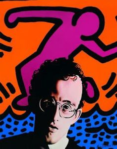 Keith Haring...always wondered about these paintings when I was growing up