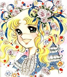 """Art from """"Candy Candy"""" series by manga artist Yumiko Igarashi. Candy Images, Candy Pictures, Dulce Candy, Japanese Cartoon, Arte Disney, Animation, Manga Drawing, Paper Dolls, Manga Anime"""
