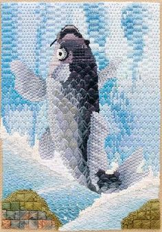 RSN needlepoint (I like the scales - will be good for my mermaid, when I get around to her)