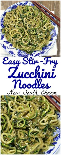 Easy Stir-Fry Zucchini is a low carb side dish that's prefect for chicken, shrimp, and steak.