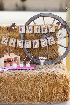 Giddy up Pony Cowgirl Party Package - Handmade