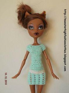 If you like this, visit my shop: http://mymonsterhighboutique.dawanda.com Monster High vestido V133 von My Monster High boutique auf DaWanda.com