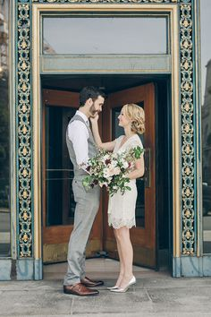 A City Hall wedding in San Francisco followed by a laid-back reception with a food truck   From SF With Love: http://www.fromsfwithlove.com