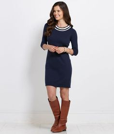 Womens' Dresses Braided Rope Sweater Dress for Women - Vineyard Vines