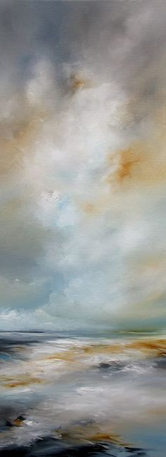 ARTFINDER: Sky Bliss by Alison Johnson - Oil on canvas, an atmospheric piece full of movement, in beautiful contemporary shades, a stunning addition to any home