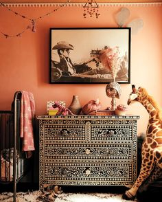 A Make-Believe-Ready Nursery Rustic Nursery, Nursery Neutral, Cool Kids Rooms, Bedroom Wall Colors, Beautiful Interior Design, Girl Nursery, Nursery Ideas, Room Ideas, Decor Ideas