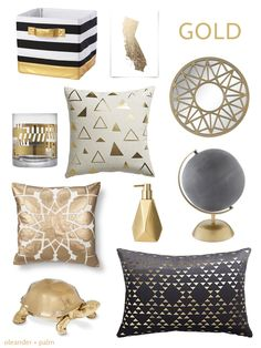 O+P Color Palette for the Home: Gold