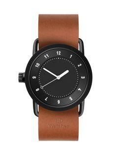 TID No.1 Black / Tan Leather Wristband