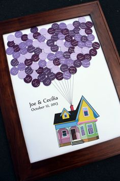 Wedding Guest Book Fly Away House - up to 150 guests
