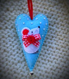 Felt Mouse Christmas ornament