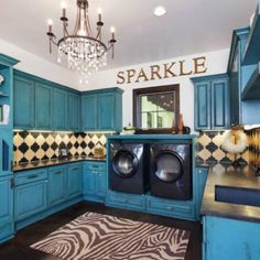 Laundry Room Ideas- Whoa, that's fancy!! http://www.incognitocustomclosets.com #customclosets #closets