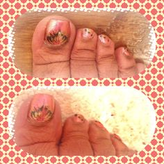 #toenail art #nail art by Durotha