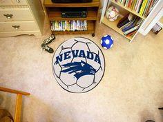University of Nevada Reno Soccer Ball Floor Rug Mat