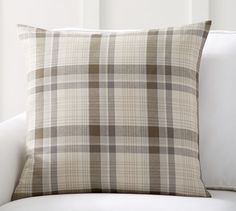 Colin Plaid Pillow Cover | Pottery Barn. Love these colors.