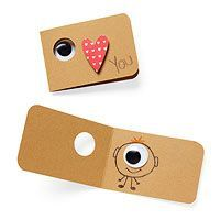 I Love You Cards - fun Valentines with googly eyes
