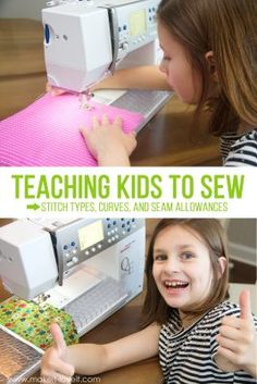 Teaching Kids To Sew, Part 5: Stitch types, sewing on curves, and seam allowances | Make It and Love It | Bloglovin'