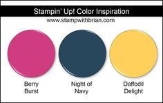 Stampin' Up! Color Inspiration: Berry Burst, Night of Navy, Daffodil Delight