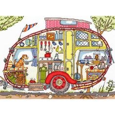 Craft Boutique - Cut Thru' - Vintage Caravan Counted Cross Stitch by Amanda Loverseed